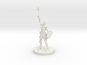 Female Elven Paladin / Cleric in White Natural Versatile Plastic