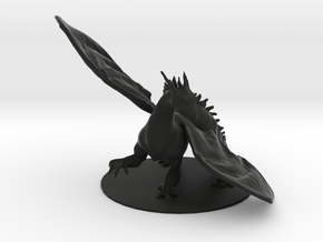 Shadow Dragon in Black Natural Versatile Plastic