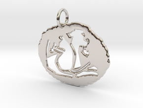 Uniquely Us Pendant--In:1.046 x / 0.987 y / 0.251  in Rhodium Plated Brass