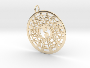 'Our World' Pendant in 14K Yellow Gold