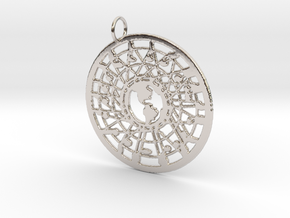 'Our World' Pendant in Rhodium Plated Brass