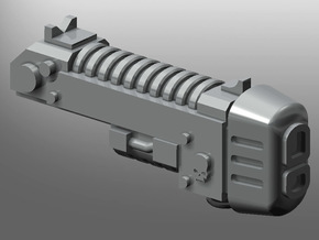 Human-sized Plasma Coilgun x5 in Smooth Fine Detail Plastic