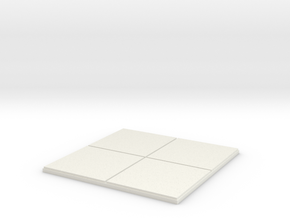 """2x2 for 1.25"""" grid. 0 walls. in White Natural Versatile Plastic"""