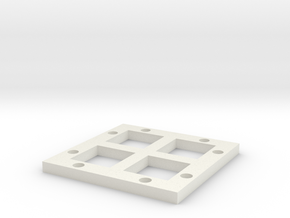 2x2_magneticbase_Offset in White Natural Versatile Plastic