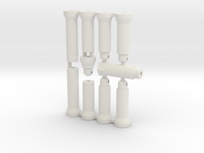 Top Force Body Mounts in White Natural Versatile Plastic