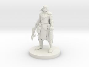 Human Male Ranger - Crossbow in White Natural Versatile Plastic