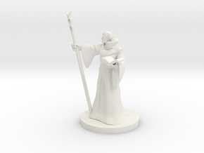 Elf Staff Wizard in White Natural Versatile Plastic
