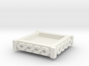 Modular Objective D6holder  topper [space viking] in White Natural Versatile Plastic
