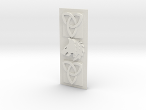 Modular Objective side plate [Space viking] in White Natural Versatile Plastic