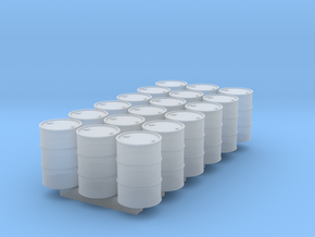 18 N scale oil drums in Smooth Fine Detail Plastic