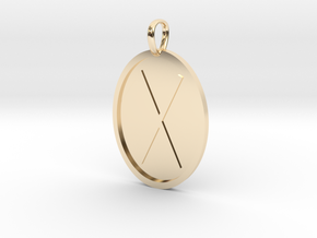 Giefu Rune (Anglo Saxon) in 14k Gold Plated Brass