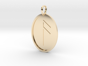 Aesc Rune (Anglo Saxon) in 14k Gold Plated Brass