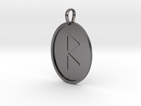 Beorc Rune (Anglo Saxon) in Polished Nickel Steel