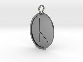 Cen Rune (Anglo Saxon) in Polished Silver