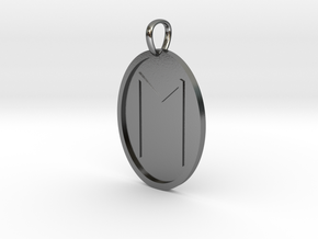 Eoh Rune (Anglo Saxon) in Polished Silver