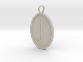 Eeoh Rune (Anglo Saxon) in Natural Sandstone