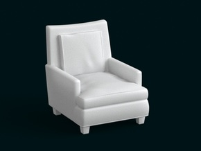1:10 Scale Model - ArmChair 06 in White Natural Versatile Plastic