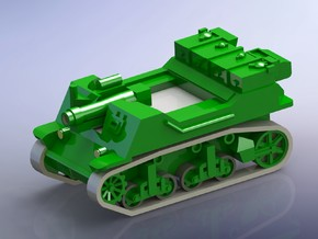 US T82 105mm HMC 1/144 in Smooth Fine Detail Plastic
