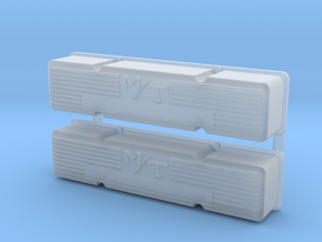 SBC 1/12 M/T valve cover set in Smooth Fine Detail Plastic
