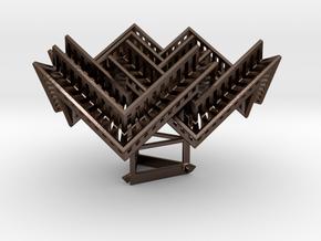 Borrocube in Polished Bronze Steel: Medium