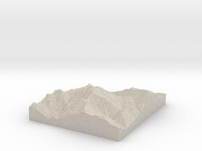 Model of Loma La Pelona in Natural Sandstone
