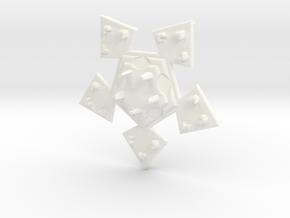 Pendant Veste in White Processed Versatile Plastic