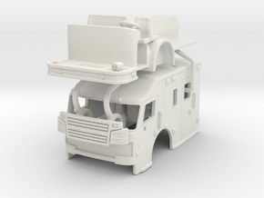 1/64 Rosenbauer Medical transport cab in White Natural Versatile Plastic