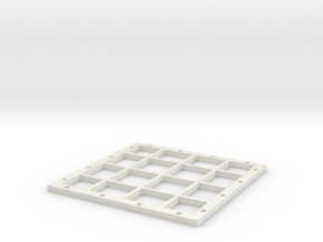 4x4_Magnetic_base in White Natural Versatile Plastic