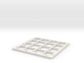 4x4_Magnetic_base in White Natural Versatile Plastic