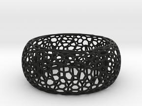 Honeycomb Bangle in Black Natural Versatile Plastic: Medium