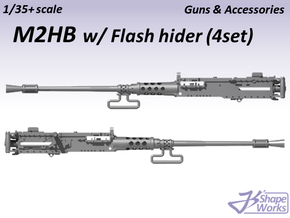 1/35+ M2HB w/ Flash hider (4 set) in Smoothest Fine Detail Plastic: 1:35
