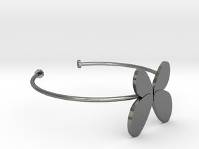 Butterfly Bangle - Full in Polished Silver