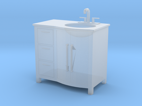 Printle Thing Bathroom wash-stand - 1/48 in Smooth Fine Detail Plastic