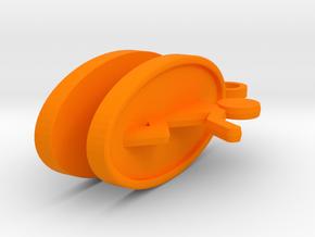 Portal Earrings in Orange Processed Versatile Plastic