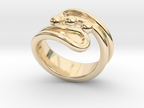 Threebubblesring 21 - Italian Size 21 in 14K Yellow Gold
