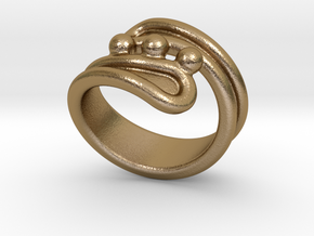Threebubblesring 21 - Italian Size 21 in Polished Gold Steel