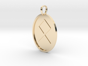 Oedel Rune (Anglo Saxon) in 14k Gold Plated Brass