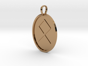 Oedel Rune (Anglo Saxon) in Polished Brass