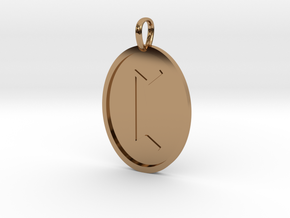 Peord Rune (Anglo Saxon) in Polished Brass