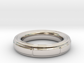 ring in Rhodium Plated Brass