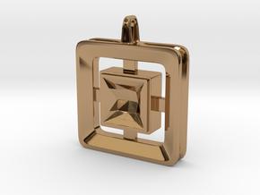 Origin ::: Square Pendant ::: v.01 in Polished Brass