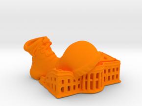 Clown Shoe Squish Plastic v2 in Orange Processed Versatile Plastic: Extra Small