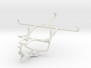 Controller mount for PS4 & Motorola Moto G5S Plus  in White Natural Versatile Plastic