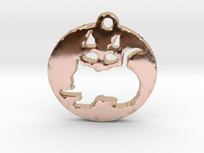 cats in 14k Rose Gold Plated Brass