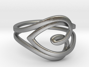 Heart Ring in Natural Silver: 7 / 54
