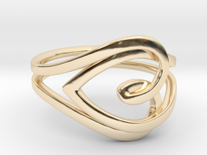 Heart Ring in 14K Yellow Gold: 6.5 / 52.75