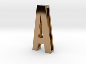 Choker Slide Letters (4cm) - Letter A in Polished Brass