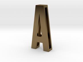 Choker Slide Letters (4cm) - Letter A in Polished Bronze