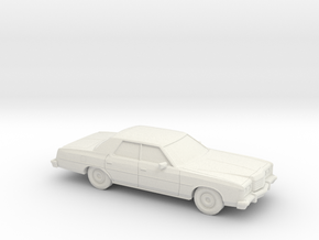1/87 1974 Ford LTD Sedan in White Natural Versatile Plastic