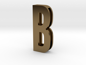 Choker Slide Letters (4cm) - Letter B in Polished Bronze